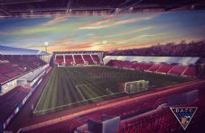 Dunfermline East End Park Under Lights 20'' x 30'' approx poster print